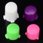 Replacement ABS Cover for Xbox One Wireless Controller - White + Deep Pink + Purple + Green (4 PCS)