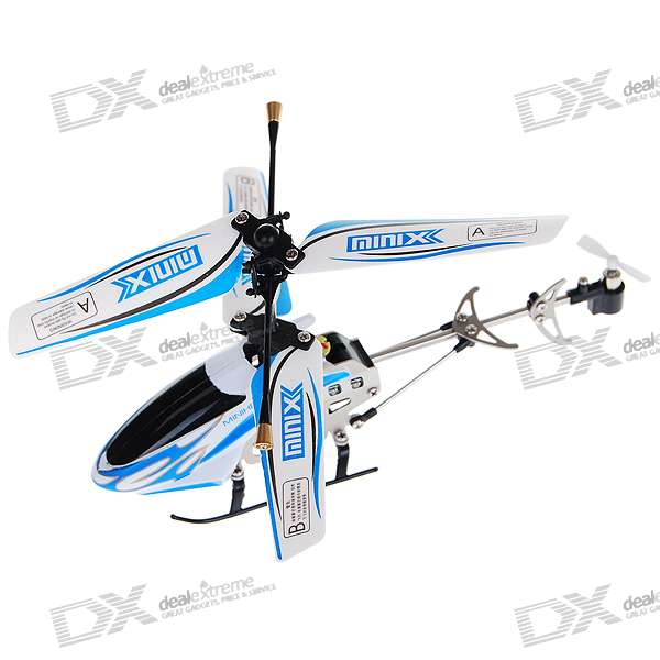 Rechargeable 3-CH Palm-Size Mini R/C Helicopter (IR Remote/6*AA)