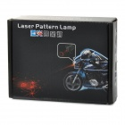 Waterproof Motorcycle 100mW 700nm Decoration Laser Red Light Lamp - Black + Silver (DC 10~15V)