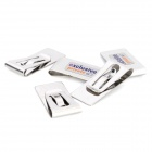 K01 Stainless Steel Money Clips - Silver (5 PCS)