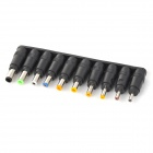 WB-34CA Handy Multifunctional DC Power Connector Set for Laptop - Black (34 PCS)