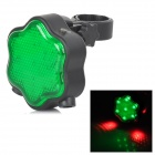 Babysbreath Style Waterproof 7-LED 3-Mode Green Light Bike Tail Light - Green + Black (2 x AAA)