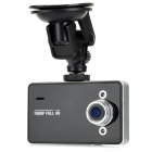 "K6000 2.5"" TFT 3.0MP CMOS Wide Angle FHD Car DVR w/ TF / 2-LED IR Night Vision / G-Sensor - Black"
