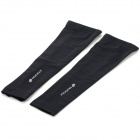 NUCKILYE274 Outdoor Sports Cycling Arm Sleeves - Black (Size S / Pair)