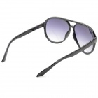 Retro Style Plastic Frame Resin Lens UV400 Protection Sunglasses - Black