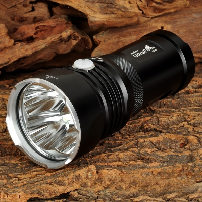 UltraFire U-4 1700lm 4-LED Cold White 4-Mode Tactical Flashlight - Black (3 x 18650)