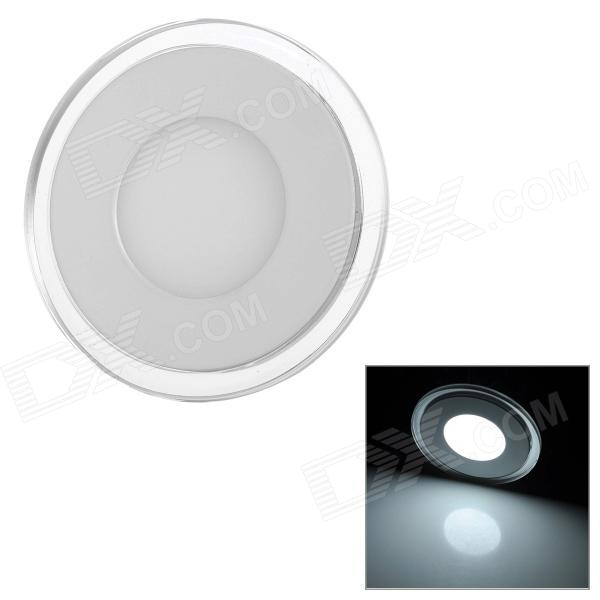 LSON 10W Round Separate Lighting 640lm 6500K White 5730 + 2835 SMD LED Panel Light w/ Power Supply 2x dual color 42smd 2835 white ice blue