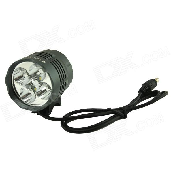 Marsing B50 5-LED 4500lm 3-Mode White Bike Light / Headlamp - Black + Grey (EU Plug) marsing cree xm l u2 1000lm 3 mode cool white bike light headlamp black 4 x 18650