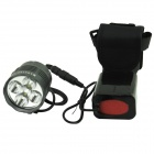 Marsing B50 5-LED 4500lm 3-Mode White Bike Light / Headlamp - Black + Grey (EU Plug)