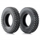 Replacement 1:14 Scale Tires for TAMIYA Truck Model - Black (2 PCS)