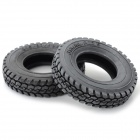 Replacement 1:14 Scale Tires for TAMIYA Truck Model - Black (2PCS)