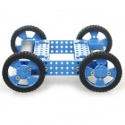 22T DIY 1:90 montado High Torque 1-CH 2.4GHz R / C Off-Road Car Model Toy - Preto + Azul