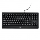 WB-005 DEMON KING Wired USB 2.0 87-Key AULA Ergonomic Design Gaming Mechanical Keyboard - Black