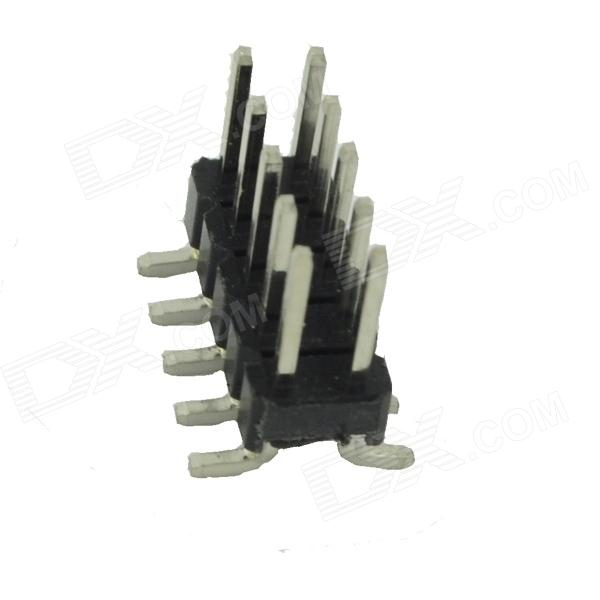 Copper 2.54mm SMD Double Row 5Pin Headers - Black + Silver (10 PCS) zndiy bry dc 12v 3 5rpm 37mm high torque gear box electric motor silver