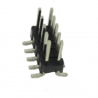 Copper 2.54mm SMD Double Row 5Pin Headers - Black + Silver (10 PCS)