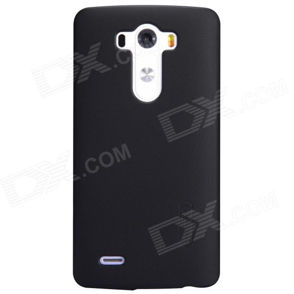 NILLKIN Matte Protective PC Back Case w/ Screen Protector for LG G3 (D855) - Black