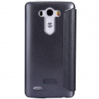 NILLKIN Protective PU Leather Flip Open Case w/ Visual Window for LG G3 - Black