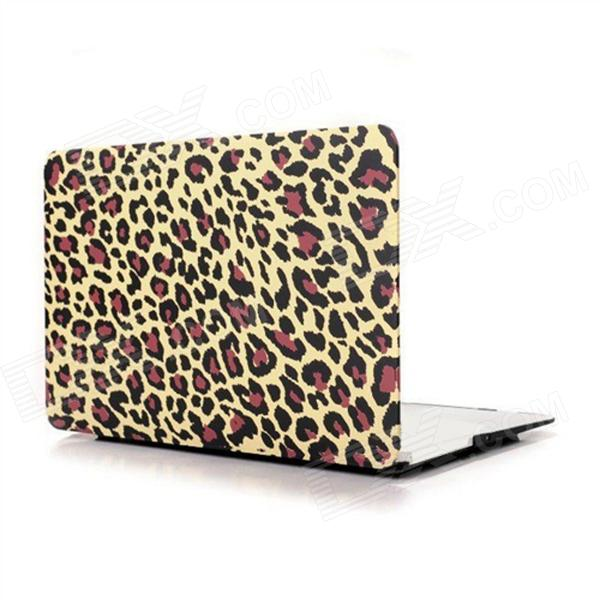 Angibabe Leopard Pattern Protective Plastic Case for 13.3