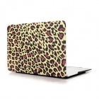 "Angibabe Leopard Pattern Protective Plastic Case for 13.3"" APPLE MACBOOK AIR - Yellow + Pink + Black"