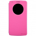 NILLKIN Protective PU Leather + PC Flip Open Case w/ Visual Window for LG G3 - Deep Pink