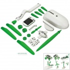 Creative 6-in-1 Solar Powered Assembly Toy Kit - White + Green