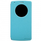NILLKIN Protective PU Leather Flip Open Case w/ Visual Window for LG G3 - Blue