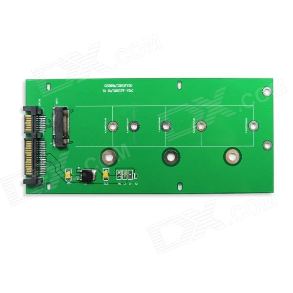 IOCREST SI-ADA40084 NGFF SSD to SATA III Card - Green barrow tzs1 a02 yklzs1 t01 g1 4 white black silver gold acrylic water cooling plug coins can be used to twist the