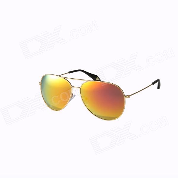 Reedoon 3025 Fashionable Resin Lens UV400 Protection Polarized Sunglasses - Golden + Orange reedoon 6488 men s fashionable resin lens uv400 protection polarized sunglasses silver grey