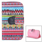 Stijlvolle Flip Open PU Leather Case w / stand /-kaartsleuven voor Samsung Galaxy S3 Mini / i8190 / i8160