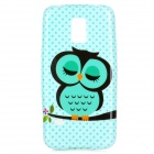 Cute Owl Pattern Protective TPU Back Case for Samsung S5 Mini - Green + Black
