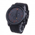 SPEATAK SP9042G Men's Stainless Steel Quartz Analog Wrist Watch w/ 3-Decorative Sub Dials - Black