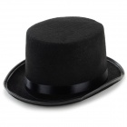 Hard Woven Fabric Jazz / Magic Bowler / Derby Hat - Black