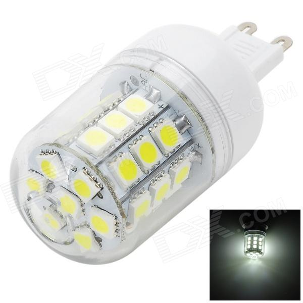Marsing L13 G9 4W 400lm 6500K 31-SMD 5050 LED White Light Corn Lamp - White + Yellow (AC 220~240V) multi function green