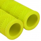 Handy Rubber Bicycle Handlebars Grips - Yellow (2 PCS)