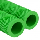 Handy Rubber Bicycle Handlebars Grips - Green (2 PCS)