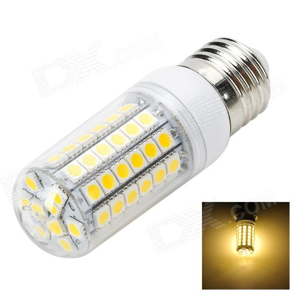 Marsing L15 E27 6W 600lm 3000K 69-SMD 5050 LED Warm White Corn Lamp -White + Yellow (AC 220~240V) marsing g9 3 5w 350lm 6500k 30 5050 smd led white light corn lamp white yellow ac 220 240v