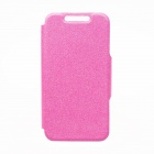 Padrão Kinston KST91259 Silk PU Leather Case Full Body w / stand para IPHONE 5 / 5S - Deep Pink