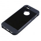 PC and Silicone Hybrid Tough Armor Case w/ Air Cushion for IPHONE 5 / 5S - Black