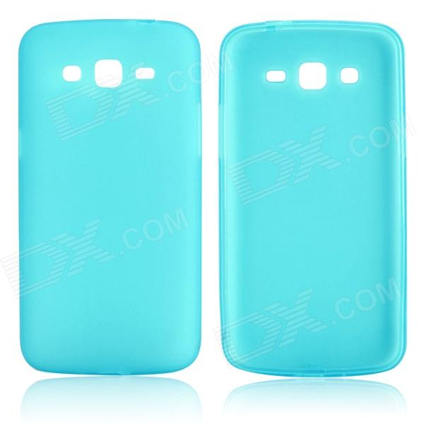 DF-003 Protective TPU Back Case w/ Anti-dust Plug for Samsung Galaxy Grand2 G7106 - Light blue