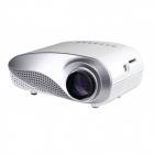 H60 Mini Multimedia LED Projector w/ TV, VGA, AV, HDMI, SD + Remote Control - White