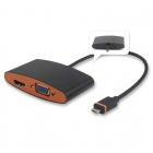 CY MH-075 Slimport MyDP to HDMI + VGA HDTV Full HD Adapter for Nexus 4 / 5 + More - Black