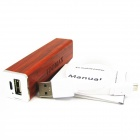 IDOMAX MD01 Portable 2600mAh Wooden Power Bank for IPHONE / IPAD / IPOD / HTC + More - Mahogany