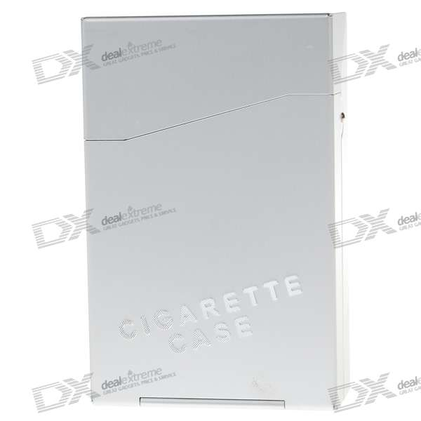 Aluminum Alloy Cigarette Case - Silver (Holds 10)