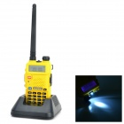 "BAOFENG UV-5R 1.5"" LCD 5W 128-CH Walkie Talkie w/ 1-LED Flashlight - Yellow"