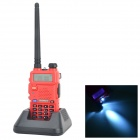 "BAOFENG UV-5R 1.5"" LCD 5W Dual Band 128-CH Walkie Talkie w/ 1-LED Flashlight - Red"