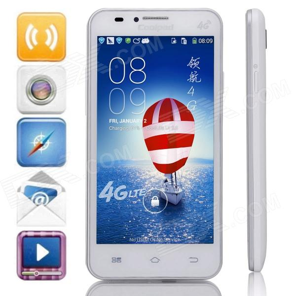 "Coolpad 8705 Marvell1920 Quad-Core 4.7"" Android 4.3 Bar Phone w/ 4GB ROM / Wi-Fi / GPS / FM - White"