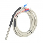 PT100 Water Resistant Probe for Fish Tank Aquarium - Grey + Black (200cm)
