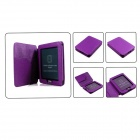 "Lychee Pattern Protective PU Case for 5"" Kobo Mini - Purple"