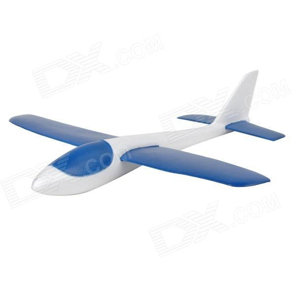 Xinhangxian S186 Children's Hand Launch Throwing EPO Foam Glider Airplane Toy - White + Blue single sided blue ccs foam pad by presta