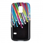 Meteor Pattern Protective TPU Back Case for Samsung S5 Mini - Black + Multi-Colored